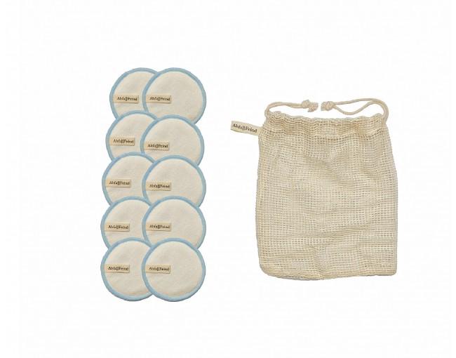 Abschminkpads Bambus und Baumwolle 12er Set