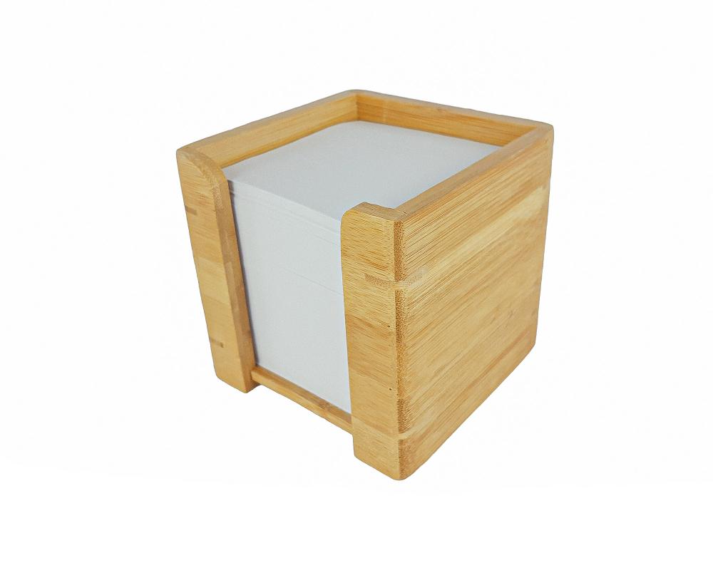 Bambus-Zettelbox mit...