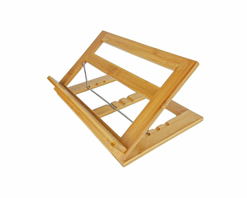Buchständer Bambus verstellbar