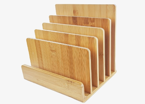 Dokumentenhalter aus Bambus mit 5 Fächern
