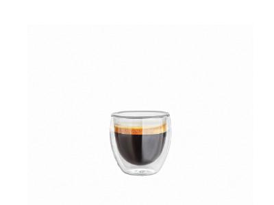 Doppelwandiges Glas oval 90 ml